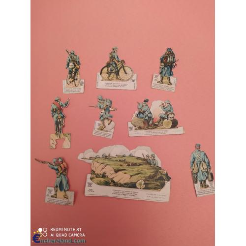 PRO PATRIA POILUS, CHASSEURS CYCLISTES FRANCE 14/18 FIGURINES CARTON